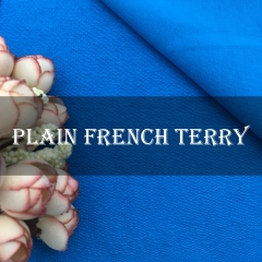 PFT280 100% Cotton French Terry Customized Plain Fabric