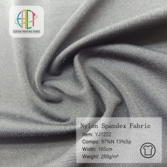 YJ1222 Imination cotton nylon spandex fabric,280gsm,MOQ=25KG