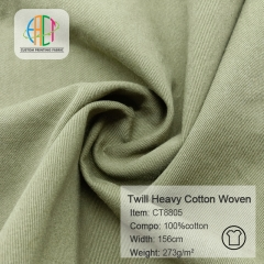 CT8805 Twill 273gsm Heavy Cotton Woven Fabric MOQ=100m