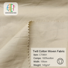 CT9891 143*90 Twill 100%Cotton Poplin fabric MOQ=100m